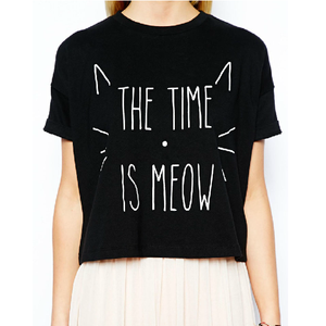 The Time is Meow Cat T-shirt