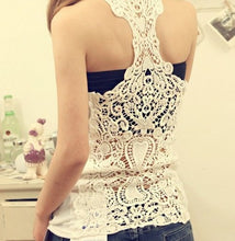 Load image into Gallery viewer, Bottoming Vest Back Lace Crochet