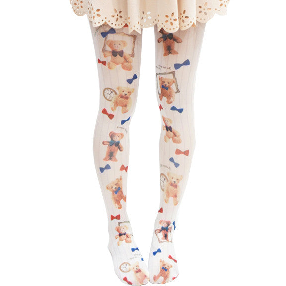 Cute Little Bear Lolita Tights