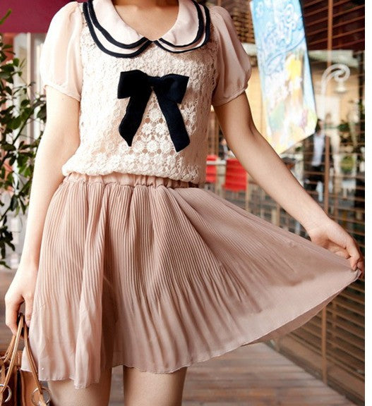 A small pleated chiffon skirt