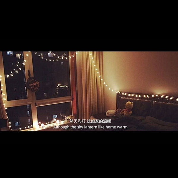 Ten meters festive Christmas lights led lights flash string lights 100 lights with tail rose rose light string all copper waterproof