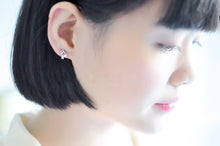 Load image into Gallery viewer, Sweet 925 Silver Musical Notes Stud Earrings