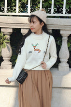 Load image into Gallery viewer, Christmas Reindeer Inwrought Knitted Sweater Pullover