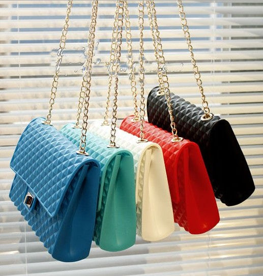 Silicone jelly bag shoulder bag Messenger bag