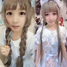 Load image into Gallery viewer, Yurisa Harajuku Long Straight Hair Lolita Grey Cosplay Wig