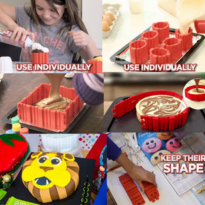 Snake Food Grade Silicone Cake Mold Magic Bake Mould Tools Stitch Any Shape DIY All Kinds of Baking Cake