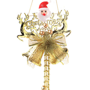 Christmas Santa Claus Reindeer Bells Decoration