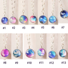 Load image into Gallery viewer, Nebula Galaxy Glass Pendant Necklace