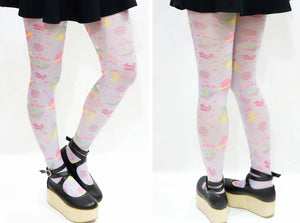 Harajuku Planet Space Print Tights