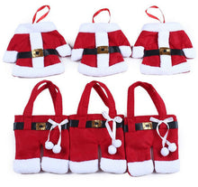 Load image into Gallery viewer, Set of 6 Christmas Santa Claus Suit Silverware Cutlery Holder
