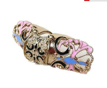 Load image into Gallery viewer, Retro Punk Alloy With Butterfly Shape Flexional Double Joint Rings