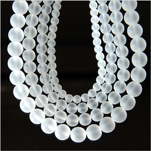 130 pieces Frosted white imitation crystal beads white glass beads beaded jewelry accessories beads DIY