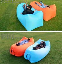Load image into Gallery viewer, 210T plaid fabric explosion-proof tear-resistant lazy sofa portable folding air free inflatable sofa