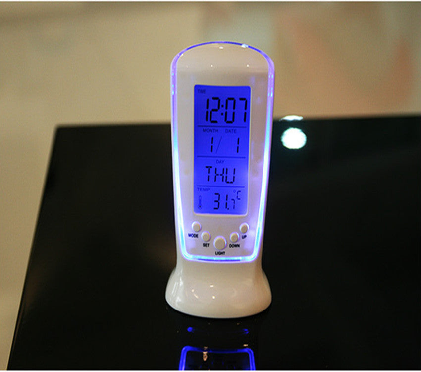 Creative LED luminous music timer Blu-ray temperature display 510 alarm clock electronic clock