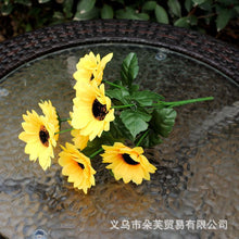 Load image into Gallery viewer, Vivid 7/9 Branches Autumn Artificial Fake Chrysanthemum Home Hotel Room Wedding Decor