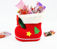 Load image into Gallery viewer, Christmas Flocking Stockings Boots Candy Box