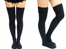 Load image into Gallery viewer, Braided Turnover Over Knee Socks