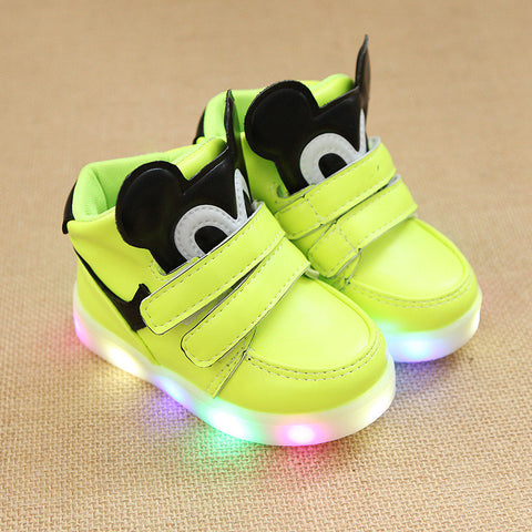 2017 new children's shoes boy light sports shoes girls light shoes LED baby shoes Korean lights children's shoes 4 colors shoes