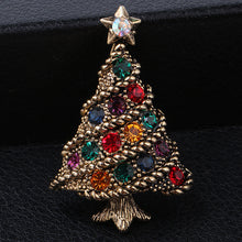 Load image into Gallery viewer, Christmas brooch creative gift suits accessories bracelet jewelry Europe and the United States retro diamonds Christmas tree pin