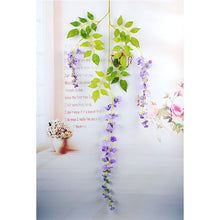 Load image into Gallery viewer, 105cm/41in Fake Flower Vine Hanging Garland Artificial Flower for Home Decor Wedding DIY Decoration