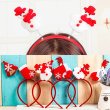 Load image into Gallery viewer, 5 pieces New Christmas ornaments snowman children hair bands Christmas headband Europe and the United States foreign trade decorative items props
