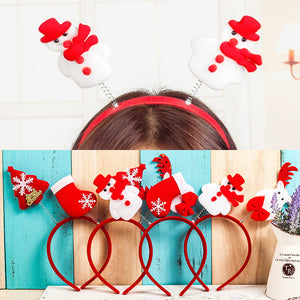 5 pieces New Christmas ornaments snowman children hair bands Christmas headband Europe and the United States foreign trade decorative items props