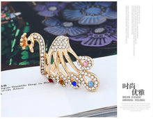 Load image into Gallery viewer, Fashion temperament diamond peacock ring