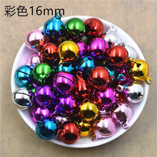 Load image into Gallery viewer, Copy of 100 pieces multicolour electroplating environmental protection word opening bell copper pet Christmas decoration size bell