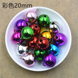 100 pieces multicolour electroplating environmental protection word opening bell copper pet Christmas decoration size bell