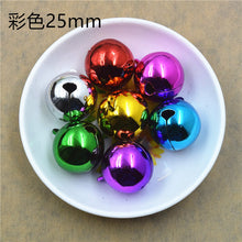 Load image into Gallery viewer, 100 pieces multicolour electroplating environmental protection word opening bell copper pet Christmas decoration size bell