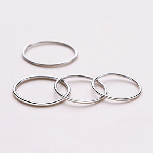 S925 Sterling Silver 1.2mm Aperture Japan and Korea Style Simple Fashion Ring