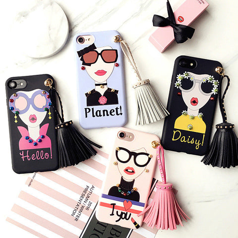 New 2017 Cute tassel Women Girl Phone Cases For Apple iPhone 6/6s/7 plus
