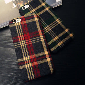 Classic grid pattern iPhone6/6s/7 plus phone shell Apple 6/6s/7 velvet protection cover
