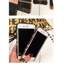 Load image into Gallery viewer, Classic grid pattern iPhone6/6s/7 plus phone shell Apple 6/6s/7 velvet protection cover