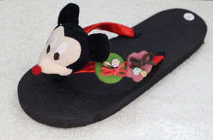 The new red Mimi black handmade cartoon character drag art buckle decoration non-slip flat-bottomed DIY leisure slippers