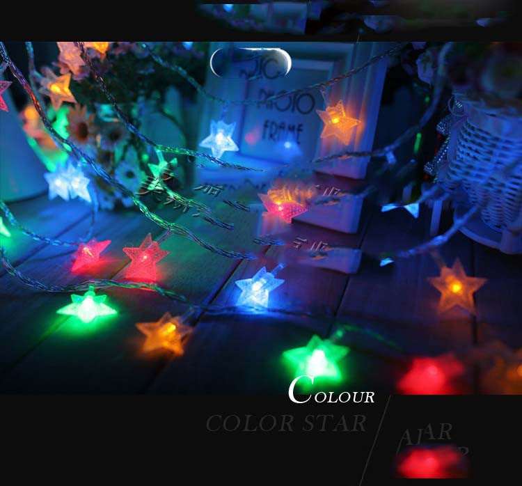 ten meters led lights light with a star light flashing lights light string lights wedding christmas