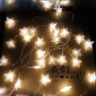 Ten meters LED lights light with a star light flashing lights light string lights wedding Christmas bar decoration lights stars
