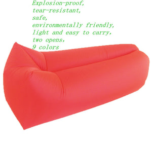 210T plaid fabric explosion-proof tear-resistant lazy sofa portable folding air free inflatable sofa