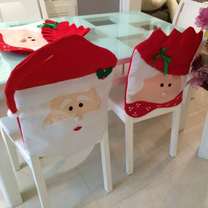 Christmas Santa Clause Chair Back Cover