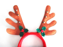 Load image into Gallery viewer, Christmas Reindeer Headband Party Decor