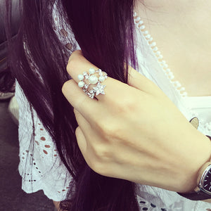 Sweet Pearl Star Ring