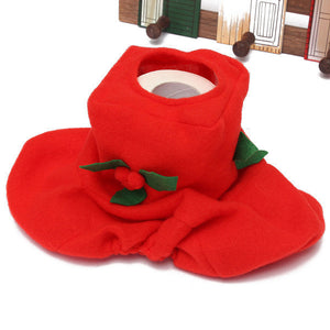 Christmas Santa Claus Cloth Toilet Seat Bathroom Set