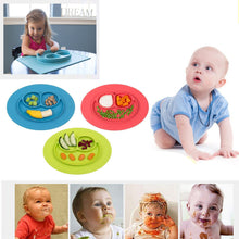 Load image into Gallery viewer, Baby smiling gel silica gel one-piece food pad plate