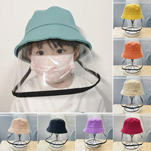 Load image into Gallery viewer, NEW Children Antibacterial Anti Fog Dust Cap 2 In 1 Hat For Kid Anti Flue Spittle Anti Dust Cover Full Face Eye Protect Hat Mask