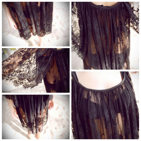 Sea Shang  love sale hood black new beauty beautiful lace hooks hanging strapless dress The beach smock Beach towel