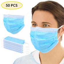 Load image into Gallery viewer, 50 Pcs 3 Layer Disposable Mask Anti Dust Mouth-muffle Face Masks Men Women Anti Fog Face Mouth Masks Breathable Mouth Cover