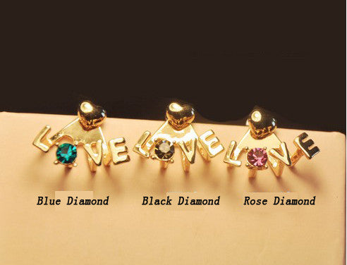 Chic LOVE diamond earrings