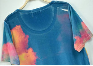 Galaxy and Triangle Tee