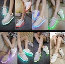 Load image into Gallery viewer, Colorful Glowing Shoes With Lights Up Led Luminous Shoes Unisex USB Rechargeable Light