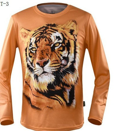 Printing T-shirt new 3D T-shirt autumn new digital printing T shirt man